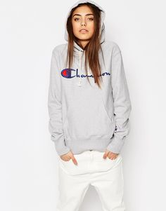 Champion - Sweat à capuche classique oversize en maille envers