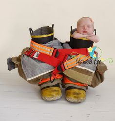 Baby girl in daddy's boots!