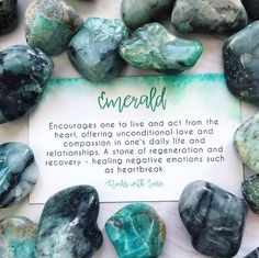 Encourages one to live and act from the heart, offering unconditional love and compassion in one's daily life and relationships. A stone of regeneration and recovery - healing negative emotions such as heartbreak. Minerals And Gemstones, Crystals Minerals, Rocks And Minerals, Crystal Guide, Crystal Magic, Crystal Healing Stones, Stones And Crystals, Gem Stones, Black Crystals