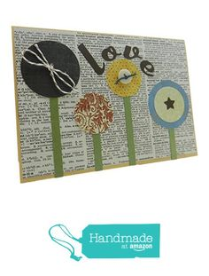 Handmade Anniversary Greeting Card Love Flowers for Wedding Anniversary Flowers with Dictionary Paper from Embellish by Jackie http://www.amazon.com/dp/B017L5JFCK/ref=hnd_sw_r_pi_dp_Zrpdxb1SMBXXD #handmadeatamazon