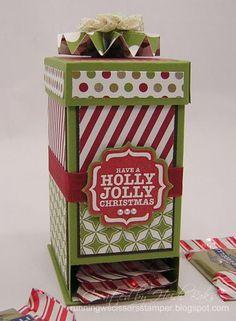 Ghiradelli Chocolate Dispenser Box - can also be a tea box