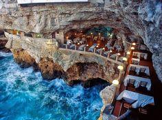 Hotel Ristorante Grotta Palazzese Polignano a Mare, Italy - Picture by Joe