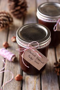 Chocolate Hazelnut Fudge Sauce, makes a great holiday gift! from CompletelyDelicious.com