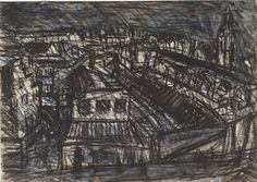 Leon Kossoff, Dalston Lane, 1974 (charcoal and pastel on paper)