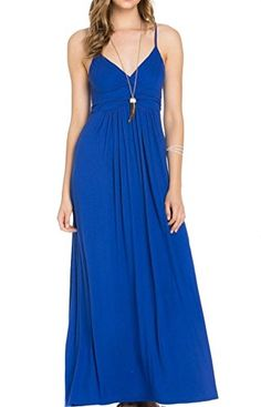 Take a look at this Aime Clothing Royal Blue Maxi Dress today! Mob Dresses, Fashion Dresses, Vestidos Mob, Maxi Outfits, Maid Dress, Maxis, Everyday Dresses, Classy Outfits, Casual Looks
