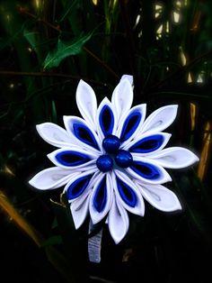 Kanzashi Flowers Headband by NellasCreations on Etsy