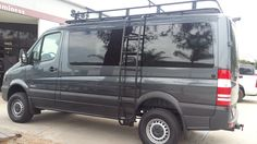Aluminess roof rack and side ladder installed on the Mercedes Sprinter!