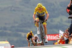 Chris Froome at the finish after losing yellow during stage 12 at the Tour de France
