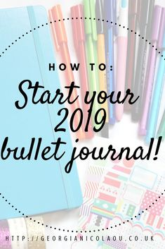HOW TO START A BULLET JOURNAL in how to start your 2019 bullet journal! How to start a bullet journal in 2019 with fun and creative spread ideas. A definitive guide of what spreads you may need and what equipment is essential. How To Bullet Journal, Bullet Journal For Beginners, Bullet Journal Spread, Bullet Journal Inspo, Bullet Journal Finance, Bullet Journal Reading List, Bullet Journal How To Start A Simple, How To Journal, Bullet Journal Layout Ideas