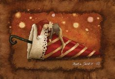 Katja Saario Art Illustrations, Illustration Art, Cute Art, Illustrators, Art Work, Heaven, Printables, Artist, Christmas