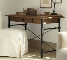 Love this for our office space - Warren Desk | Pottery Barn