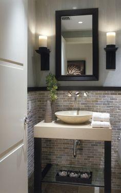 perfect powder room, classic neutrals