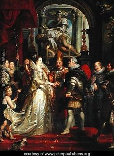 Paintings for Maria de Medici, Queen of France, scene wedding of Henry IV and Maria de Medici in Florence  Peter Paul Rubens