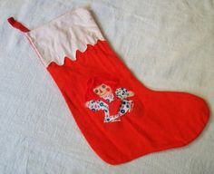 Raggedy Ann  Christmas Stocking Vintage by VintagePlusCrafts