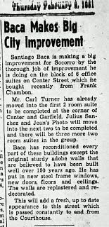 This is footage of the socorro county courthouse being torn down february 1951 article about the improvement to the baca shopping center el defensor socorro county news socorro new mexico publicscrutiny Images