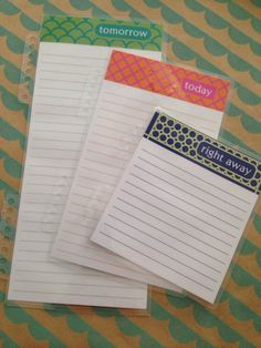 3 Insert Set - Laminated Dashboard Insert for Erin Condren Life Planner, Plum Planner or Limelife Planner - Clips right into Coils!
