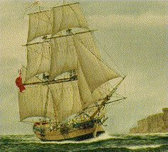 Picture of the HMS Supply First Fleet, Sailing Ships, Boat, Pictures, Image, Australia, Photos, Dinghy, Photo Illustration