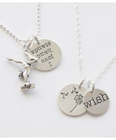 Five Little Birds by Littlefield Lane Sterling Silver Dandelion Wish Charm | zulily  I like the wish and the dandelion together as shown here