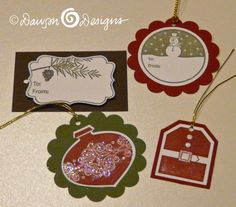 Stampin Up Christmas Tags
