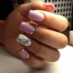 50 Winter Acrylics Short Nail Designs To Try This Season These trendy Nails ideas would gain you amazing compliments. Square Nail Designs, Short Nail Designs, Cool Nail Designs, Spring Nail Art, Nagel Gel, Purple Nails, Pink White Nails, Square Nails, Perfect Nails