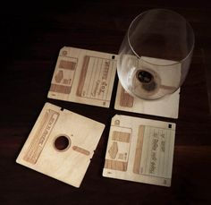 Floppy Disk Coasters $37
