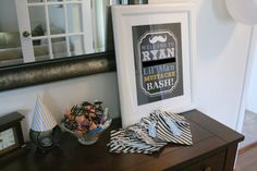 Decorations at a Mustache Party #mustache #party
