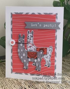 by Chris: Birthday Fiesta, Party with Cake, A Little Foxy dsp stack, Fiesta Time framelits - all from Stampin' Up!