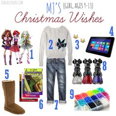 """Delet #1 and change #7's outfit to another outfit i repinned in my """"christmas list"""" board."""