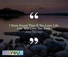 If you love life, life will love you back! A simple reminder of the power of the law of attraction. You get in life, the energy that vibrates from within you. Therefore, if you send out a vibration of loving life out, the universe gives back to you events in life at that same frequency.  #lawofattraction #loa