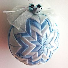 White Christmas   Handmade Quilted Ornament by Traceritops on Etsy, $18.00