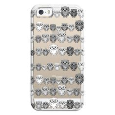 iPhone 6 Plus/6/5/5s/5c Bezel Case - Tiny Hoots Monochrome -... ($35) ❤ liked on Polyvore featuring accessories, tech accessories, iphone case, clear iphone cases, apple iphone cases, iphone cover case and transparent iphone case