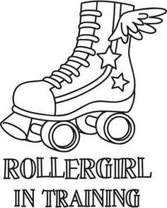 Free Printable Roller Skate Coloring Pages cakepins.com