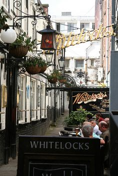 Whitelocks, Leeds ooooooh lovely times I had there. One of Ken's favourites AW