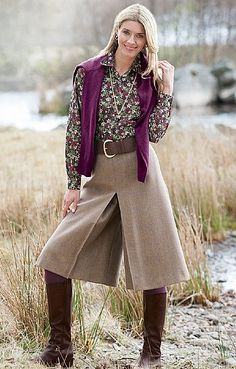 House of Bruar Ladies Tweed Culottes - if you *have* to wear pants...these look nice as they kind of look skirt-like. ;)