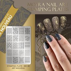 NEW Moyra Stamping Plate No. 40 Art Nouveau  #moyra #new #nailart #stamping #plate #artnouveau #koromnyomda #koromdiszites #nyomdalakk #stampingpolish #foil