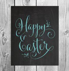 Happy Easter Printable Chalkboard Art  by ScubamouseStudiosJr, $5.00