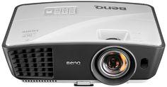 BenQ W770ST Kurzdistanz DLP-Projektor (New 3D, Kontrast 13000:1, 1280 x 720 Pixel, 2500 ANSI Lumen, HDMI, USB) weiß/grau - http://kameras-kaufen.de/benq/benq-w770st-kurzdistanz-dlp-projektor-new-3d-1-x