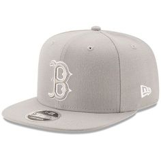 e175835538931 Men s Boston Red Sox New Era Gray League Basic Original Fit 9FIFTY  Adjustable Snapback Hat