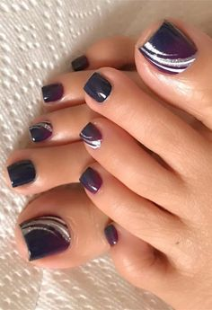 Best Toe Nail Designs und Bilder für Summer - Fashion Best Toe Nail Designs und Bilder für Summer - Fashion - The Best Nail Art Designs Compilation. 40 exciting ideas for new years nails to warm up your holiday mood page 10 Pretty Toe Nails, Cute Toe Nails, Pretty Toes, Toe Nail Art, My Nails, Hair And Nails, Toe Nails Red, Simple Toe Nails, Blue Nail
