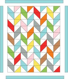 Mixed Chevron Quilt FREE pattern/instructions. Love this style