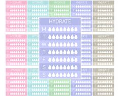 Weekly Hydrate Planner Stickers Sidebar Stickers by EnjoyPlanning