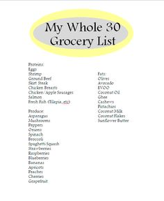 "JOIN ASHLEY ON THE ""WHOLE 30 DIET!"" The June Whole 30: Ashleys Initial Plan of Attack 