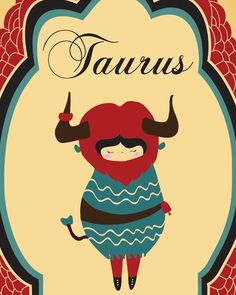 Poster of TAURUS Zodiac Sign / Indie Modern Art by ParadaCreations, $19.00