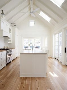paneled walls, heart pine floors