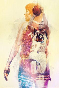 Past vs Present NBA Superstars Mirror Images
