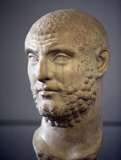 Emperor Carinus, Roman bust (marble), 3rd century AD, Centrale Montemartini, Rome