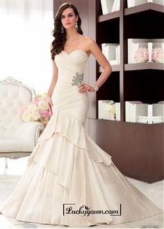 Alluring Taffeta Sweetheart Neckline Natural Waistline Mermaid Wedding Dress