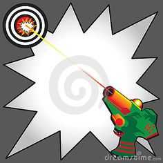 Laser Tag Party Invitation with colorful laser gun blasting a laser beam at a bulls eye target. Comic Book inspired star burst to write your info Birthday Invitations Kids, Printable Invitations, Party Invitations, Invitation Ideas, Invites, Printables, Laser Tag Birthday, Laser Tag Party, Paintball Birthday