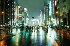 rain, Tokyo.
