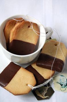 Tea Bag Cookies - cute for a shower or some girly party
